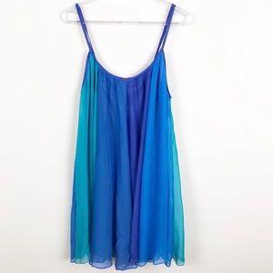 Free People Blue Rainbow Ombré Sherbet Dress